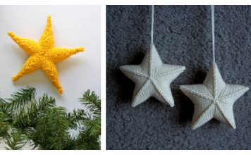 3D Star Ornament Free Knitting Pattern
