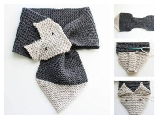 Adjustable Fox Scarf Free Knitting Pattern