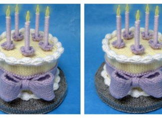 Amigurumi Birthday Cake Free Knitting Pattern