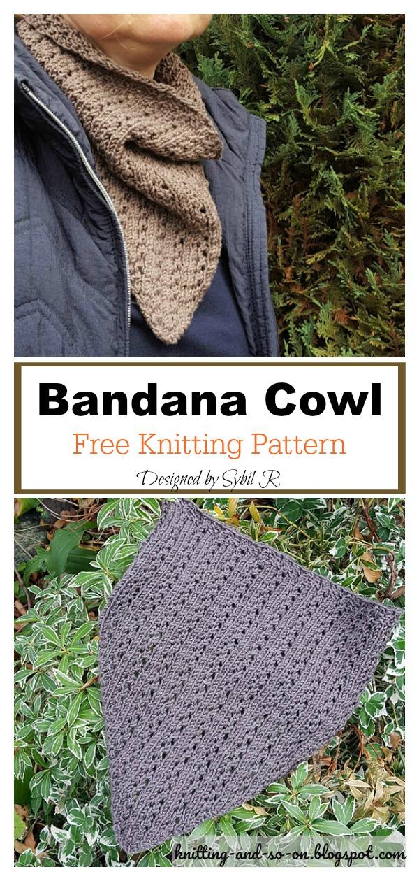 Autumn is Coming Bandana Cowl Free Knitting Pattern