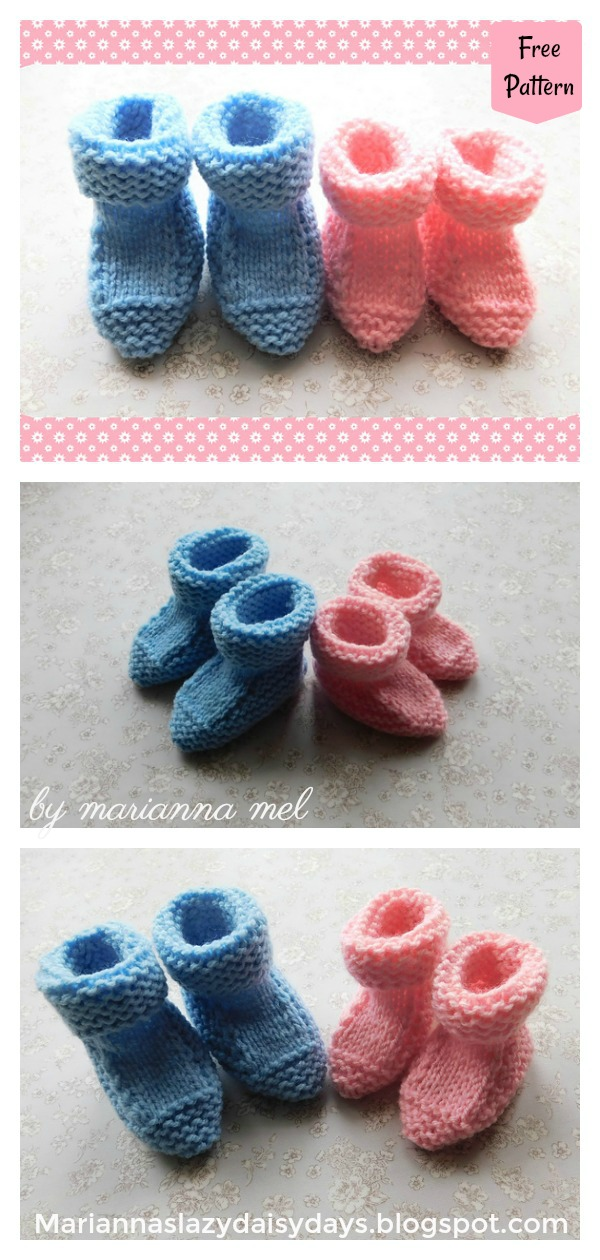 Babbity Baby Booties Free Knitting Pattern