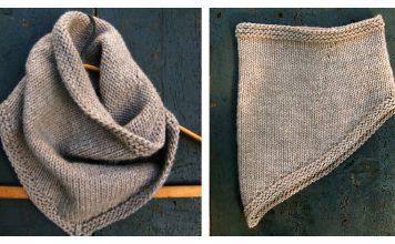 Bandana Cowl Free Knitting Pattern