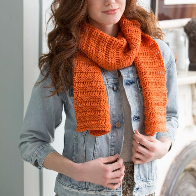 Beginner Garter Drop Stitch Scarf Free Knitting Pattern