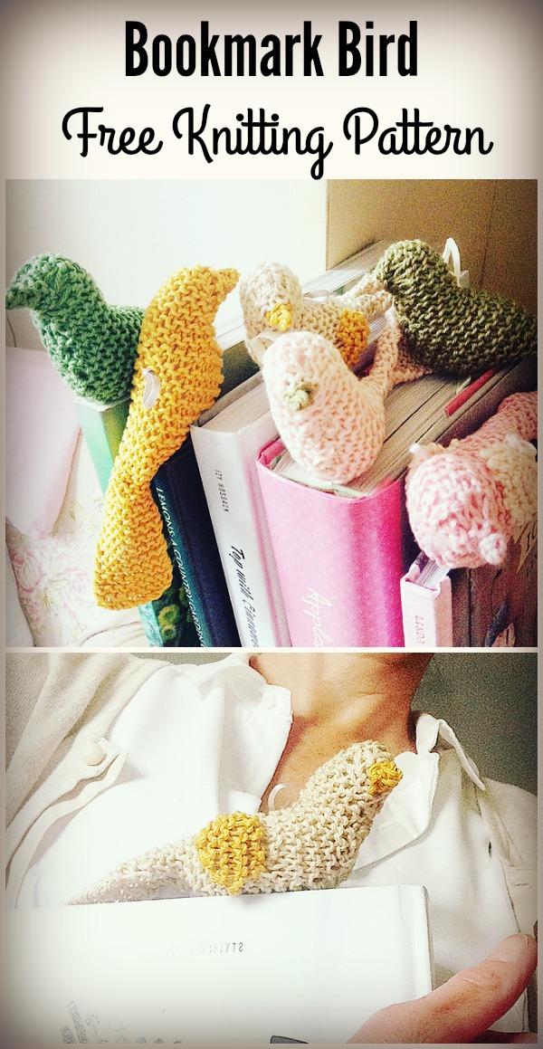 Bookmark Bird Free Knitting Pattern