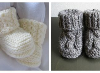 Cable Baby Booties Knitting Patterns