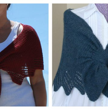 Carol's Clever Little Keyhole Shawl Free Knitting Pattern