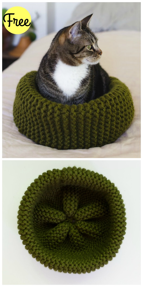 By Jenni Designs: Free Crochet Pattern: Marley's Cat Cave (or Bed) | 1202x600