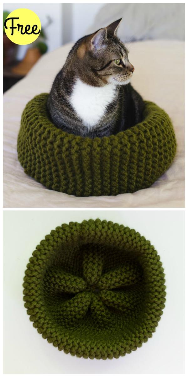 20 Free Crochet Cat Bed & House Patterns - DIY & Crafts | Crochet ... | 1202x600
