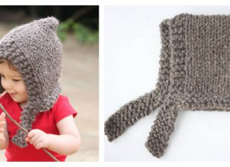Child's Woodland Hood Free Knitting Pattern