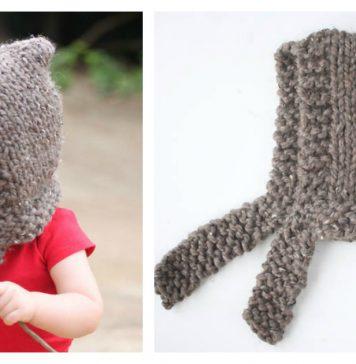 Child's Woodland Hood Free Knitting Pattern