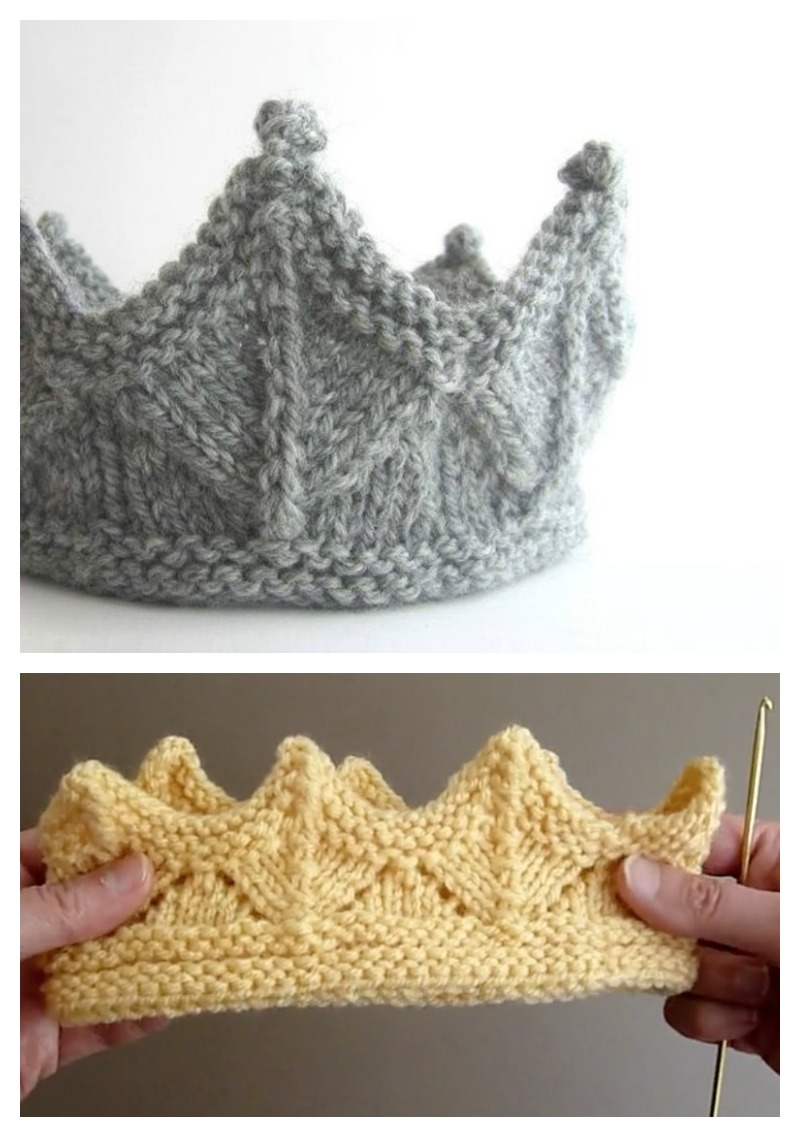 Crown Free Knitting Pattern and Video Tutorial