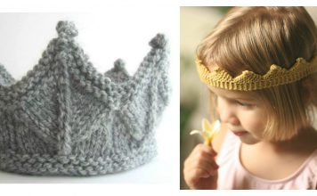 Crown Free Kintting Pattern and Video Tutorial