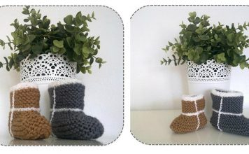 Easiest Baby UGG Booties Ever Free Knitting Pattern