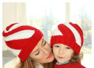 Easy Candy Cane Swirl Hat Free Knitting Pattern