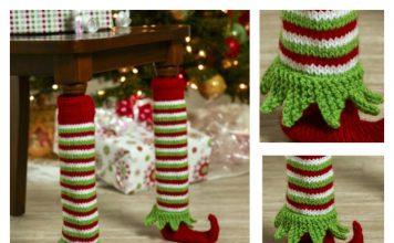 Elf Shoe Table Leg Cover Free Knitting Pattern