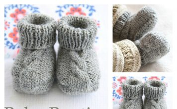 Epipa Baby Booties Free Knitting Pattern