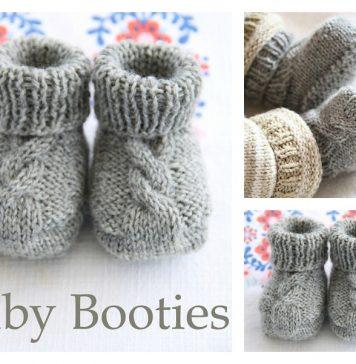 Epipa Baby Booties Free Knitting Pattern