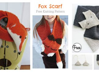 Fox Scarf Free Knitting Pattern