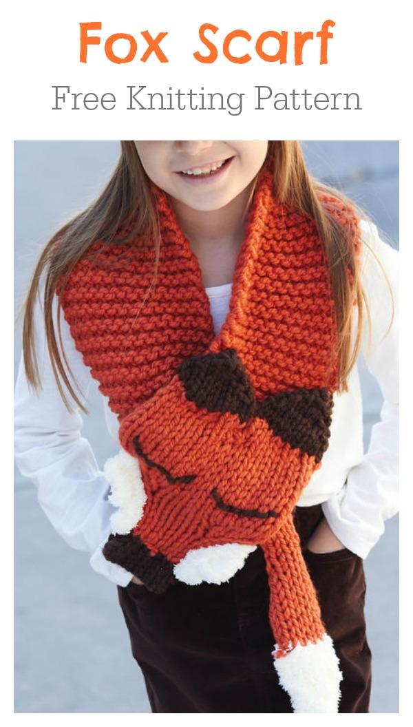 Adjustable Fox Scarf Free Knitting Pattern