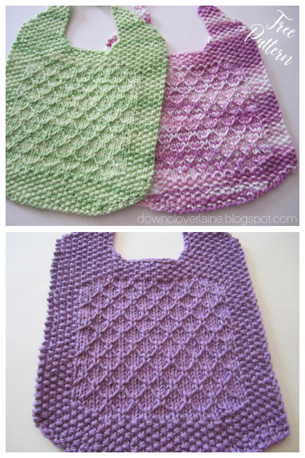 Grammy's Bib Free Knitting Pattern