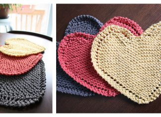 Heart Shaped Dishcloth Free Knitting Pattern