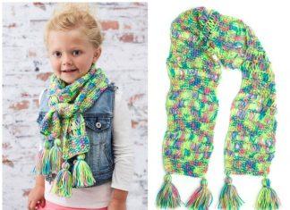 Kid's Drop-Stitch Scarf Free Knitting Pattern