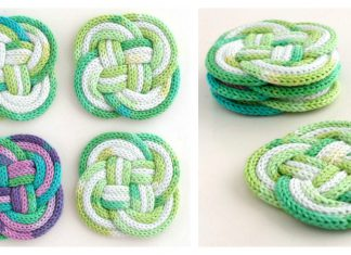 Knotted Coasters Free Knitting Pattern