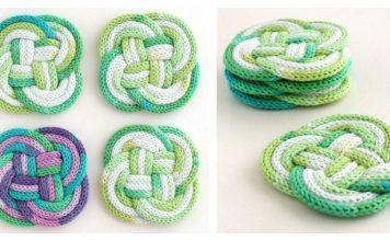 Knotted Coasters Free Knitting Pattern