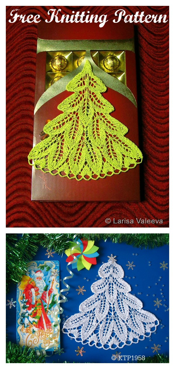 Lace Christmas Tree Ornament Free Knitting Pattern