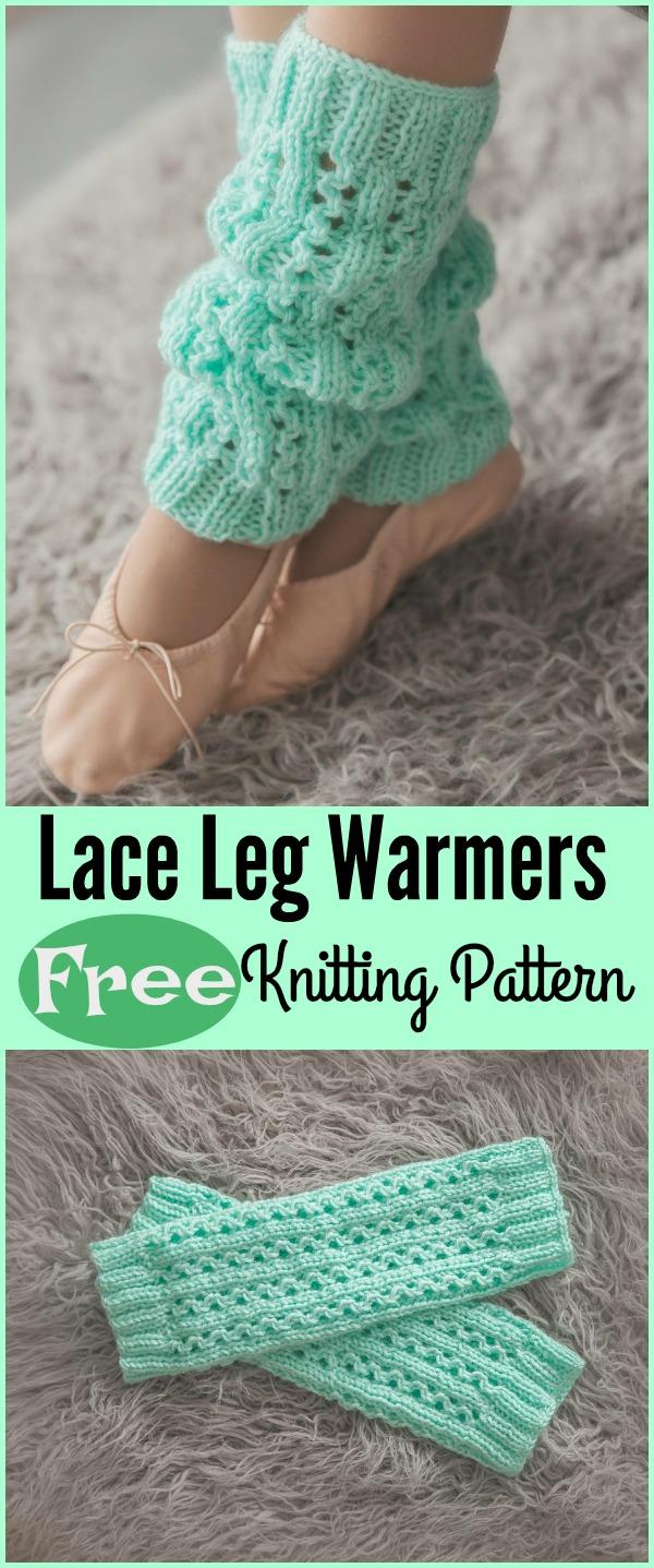 Lace Leg Warmers Free Knitting Pattern