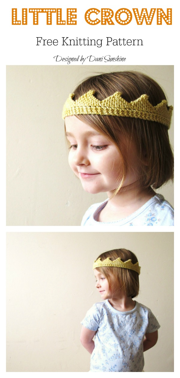 Knitted Crown Free Knitting Pattern And Video Tutorial