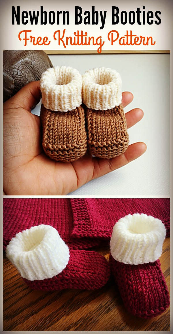 734ba7169bce Newborn Baby Booties Free Knitting Pattern