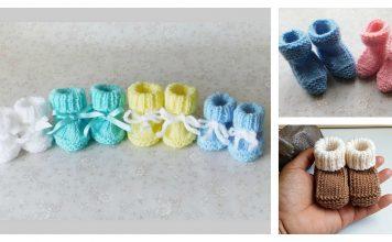 Newborn Baby Booties Free Knitting Pattern