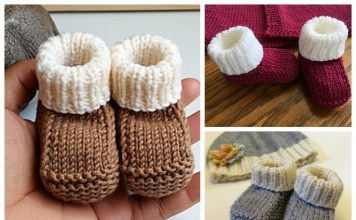 Newborn Baby Booties Free Knitting Pattern
