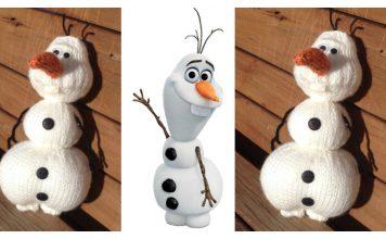 Olaf from Frozen Amigurumi Free Knitting Pattern