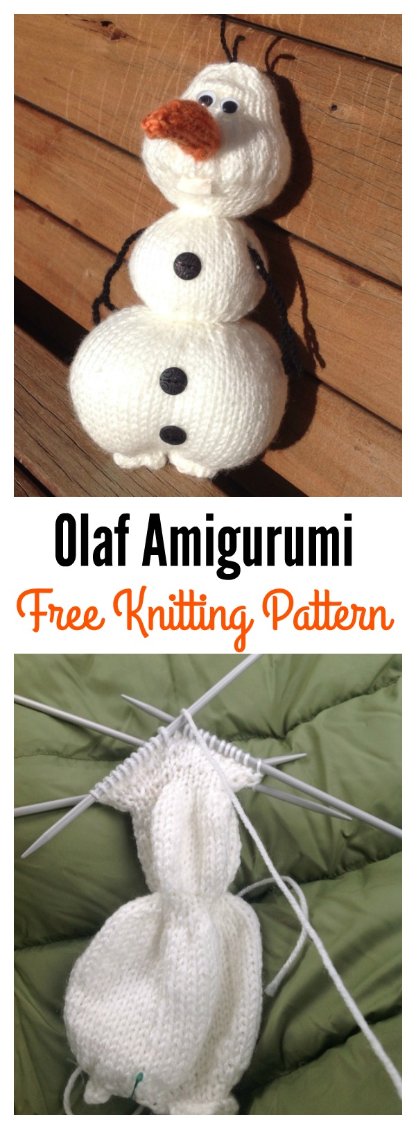 Olaf from Frozen Amigurumi Free Knitting Pattern