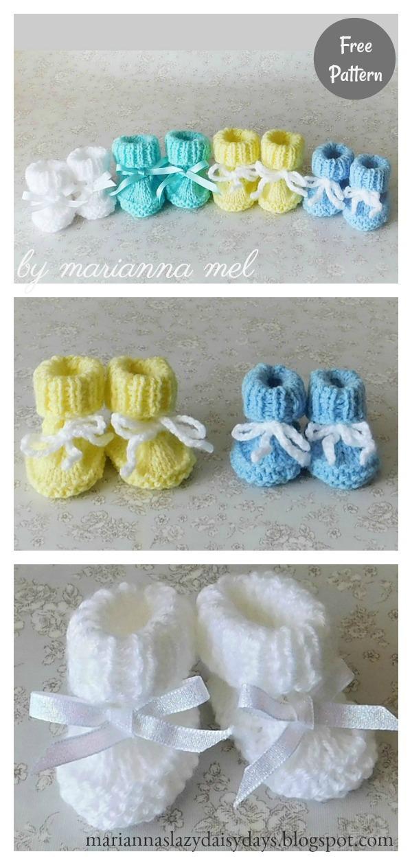 Preemie Baby Booties Free Knitting Pattern