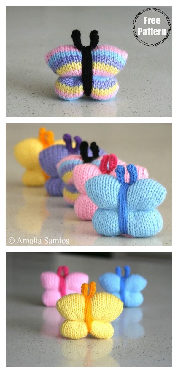 Quick and Very Easy Butterfly Free Knitting Pattern
