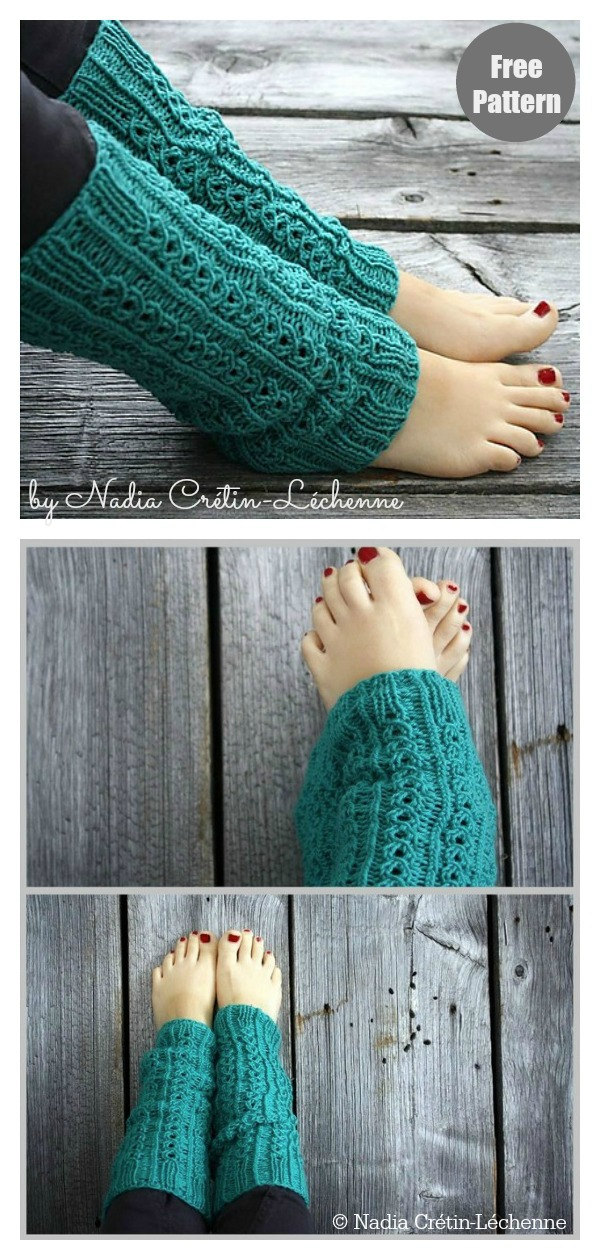 Simple Lace Leg Warmers Free Knitting Pattern
