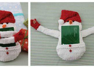 Snowman Gift Card Cozy Free Knitting Pattern