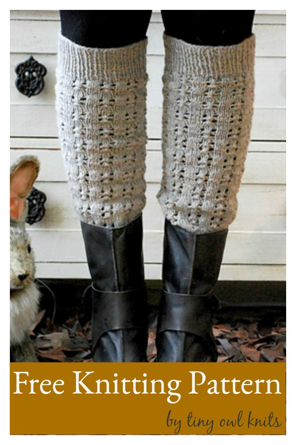Some Cloudy Day Lace Leg Warmers Free Knitting Pattern