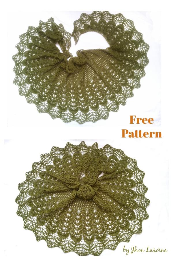 Sparks Waves Lace Shawl Free Knitting Pattern