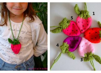 Strawberry Coin Bag Free Knitting Pattern