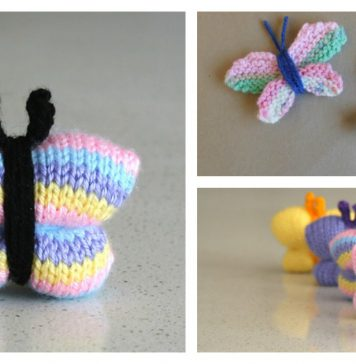Easy Butterfly Free Knitting Pattern