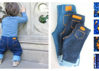 Unisex Baby Jeans Free Knitting Pattern