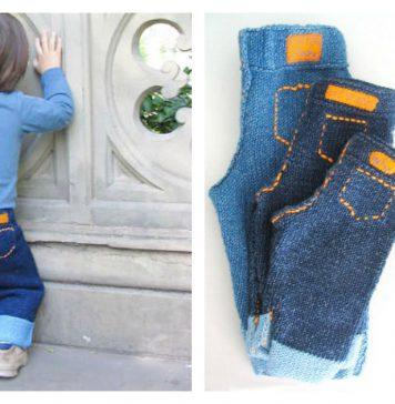 Unisex Baby Jeans Free Knitting Pattern
