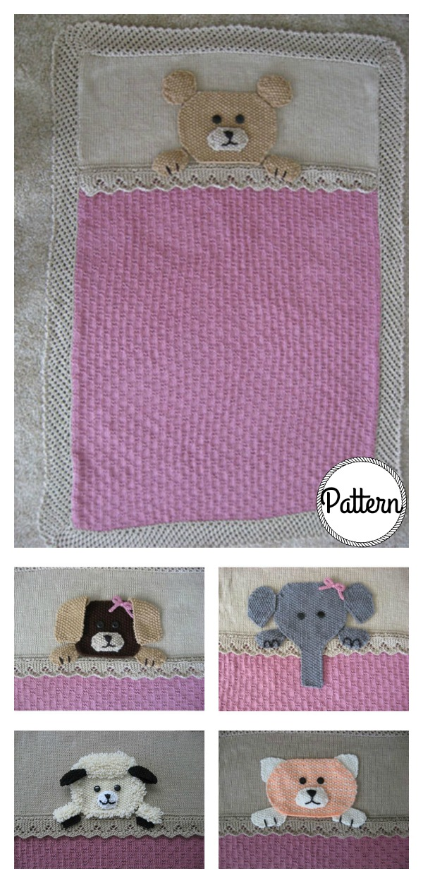 Who's Sleeping in My Bed Crib Blanket Knit Pattern