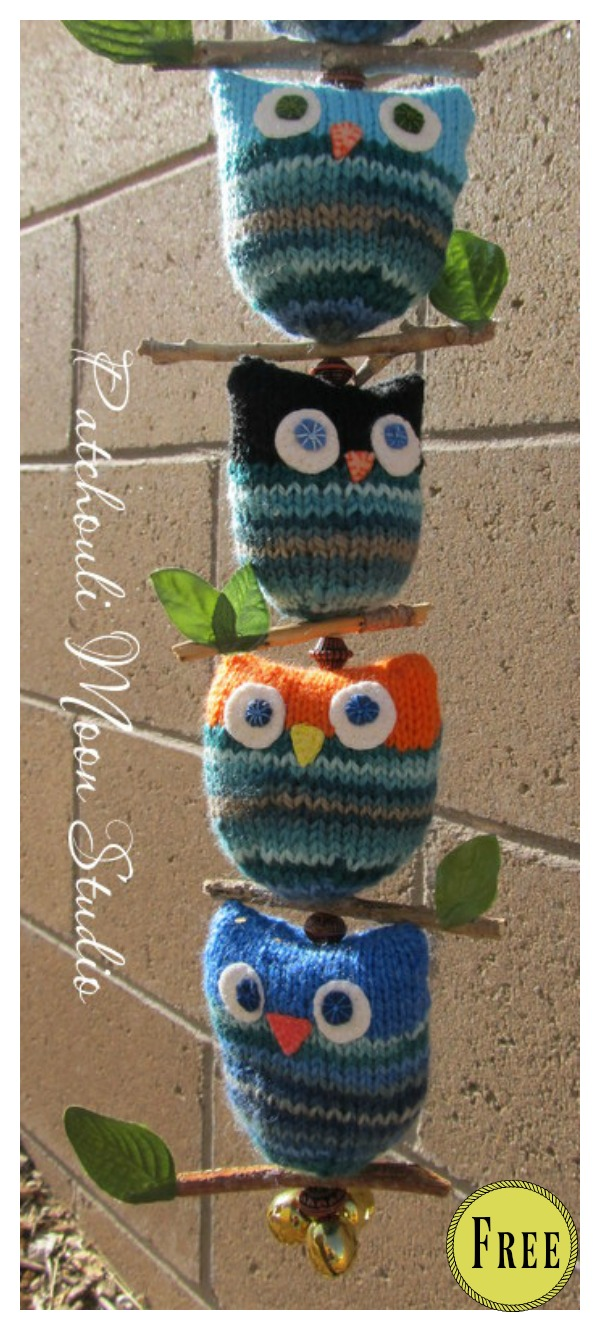 Adorable String Owl Free Knitting Pattern