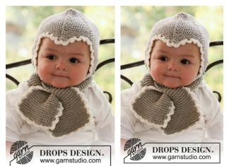 Baby Hat and Scarf All in One Free Knitting Pattern
