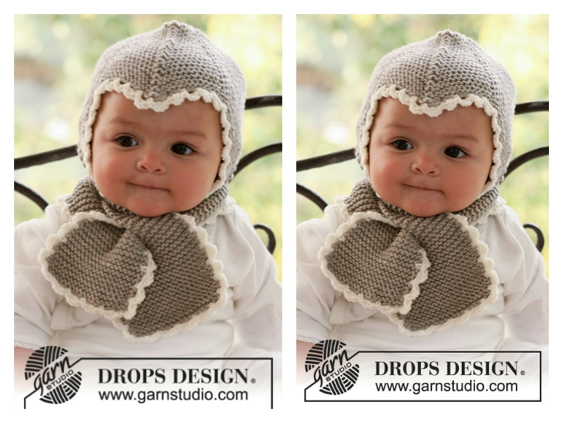 Baby Hat and Scarf All in One Free Knitting Pattern bfbb75361a9